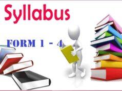 SYLLABUS FOR SECONDARY SCHOOLS FORM 1 - 4