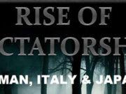 THE RISE OF DICTATORSHIP
