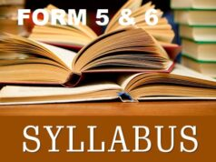Syllabus for Secondary Schools Form 5 and 6