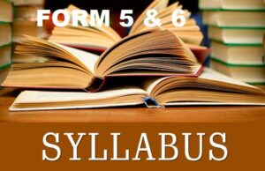 SYLLABUS FOR SECONDARY SCHOOLS FORM 5 - 6