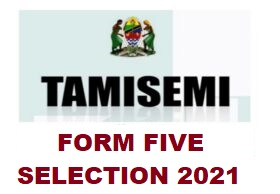 Form Five Second Selection 2021