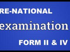 PRE NATIONAL EXAMINATIONS