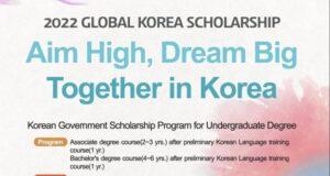 Fully Funded Korean Government Scholarship Program 2022 for Undergraduate Studies