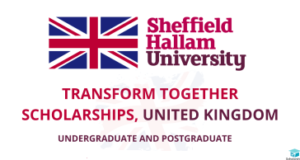 Transform Together Scholarships for non-UK Students