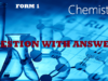 Topic 6 : Air Combustion Rusting And Fire Fighting Questions With Answers ~ Chemistry Form 1