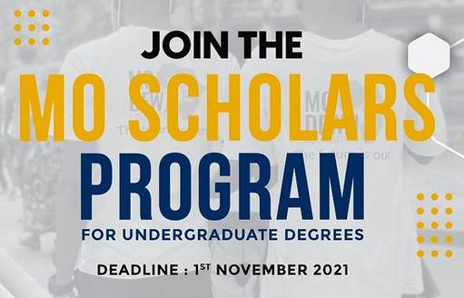 Mo Scholars 2021   Apply to become a Mo Scholar